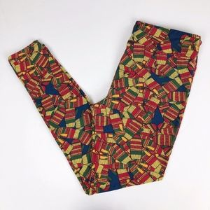 LuLaRoe TC Holiday Vintage Mittens Leggings
